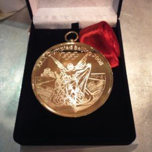 Медаль латунная, спортивная гравировка