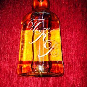 Гравировка стеклянной бутылки