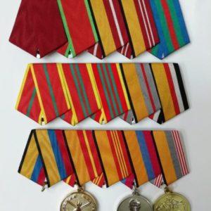 Орденские колодки, 15 медалей