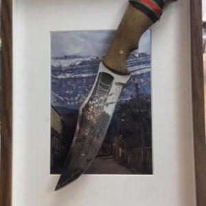 Панно, гравированный нож