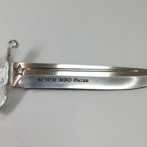 Механическая гравировка ножа (обработка сатин)